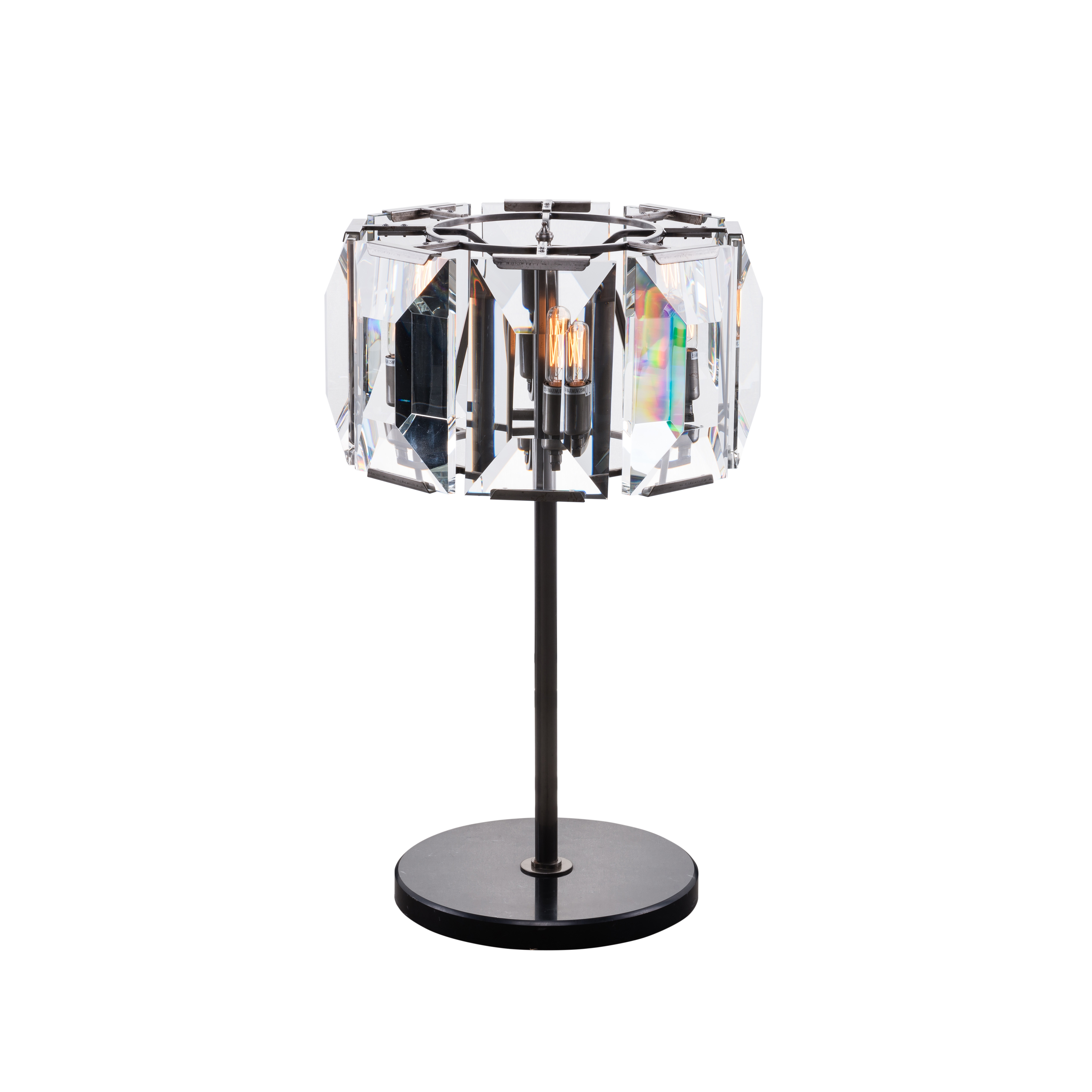 Facet Table Lamp Clear Halo